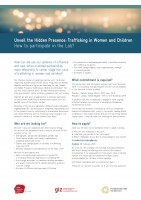 Icon of call for applications Leadership Lab Trafficking Info