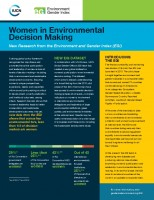 Icon of Report EGI Women In Environmental Decision Making