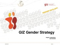 Icon of PPT How to implement the GIZ Gender Strategy
