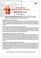 Icon of Call For Participants Exchange Digital Gender Equality