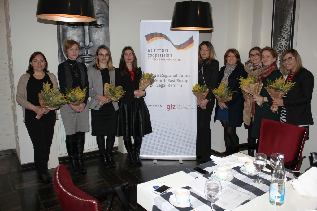 Female Lawyers breakfast meeting in Kosovo.