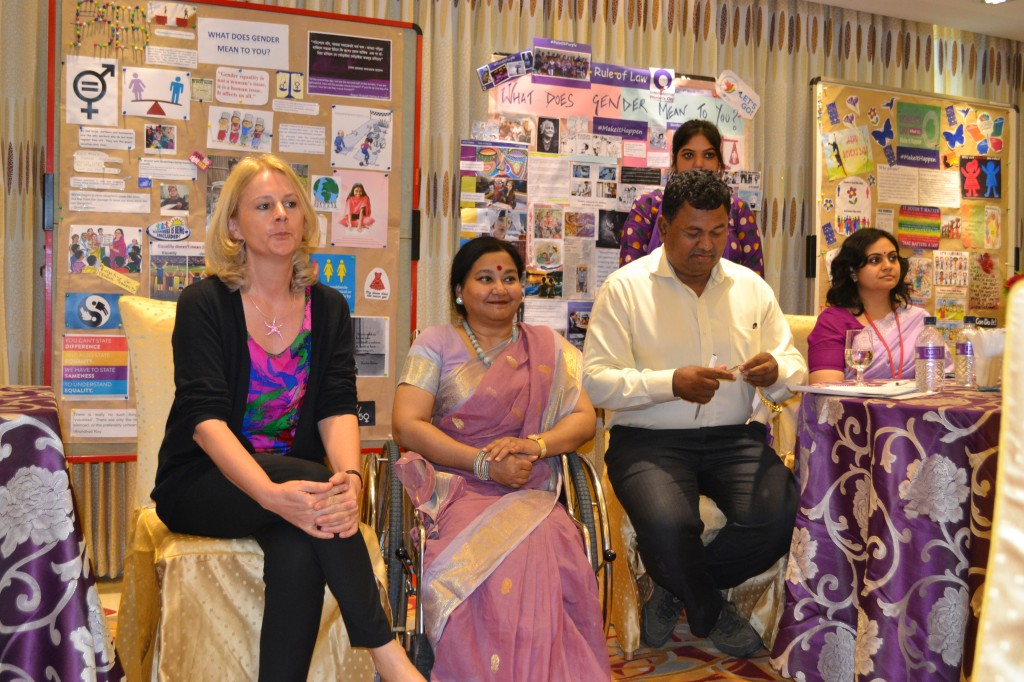 "Speakers at event celebrating International Women's Day 2015 at GIZ Bangladesh with the theme - ""Including Us"