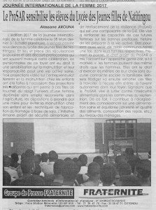 Gender_Week_Benin_ProSAR_article_JIF_2017