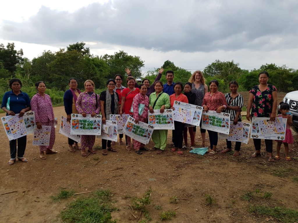 Female focal persons who were capacitated by GIZ staff to be nutrition trainers